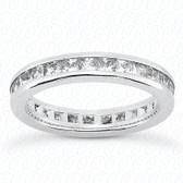Princess Channel Set Diamond Eternity Band - MCET1029