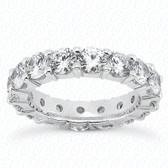 Round Brilliant Shared Prong Set Diamond Eternity Band - MPET1008-S7