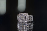 14K White Gold Ring With 1.00 TCW Diamonds - LC334