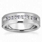Mens Classic Round Cut Diamond Wedding Band  - MC214