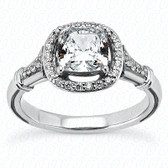 As Shown : Cushion Cut Diamond Measures 4.5mm x 4.5mm (Approximately 0.65 tcw)