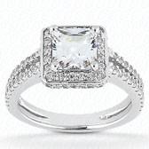 As Shown : Princess Cut Diamond Measures 4.5 x 4.5mm (Approximately 0.60 tcw)