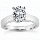 As Shown : Oval Center Diamond is Approximately 1.50 tcw (8mm x 6mm)