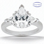 As Shown : Pear Center Diamond is Approximately 1.00 tcw (8mm x 6mm)