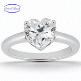 As Shown : Heart Cut Diamond Measures 6 x 6mm (Approximately 1.20 tcw)