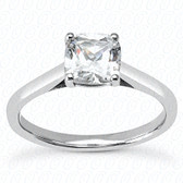 As Shown : Cushion Cut Diamond Measures 6.5 x 6.5mm (Approximately 1.50 tcw)