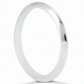 14K White Gold Plain Wedding Band- ENS1327-B