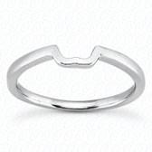 14K Plain Fitted Wedding Band - ENS2062-1-B