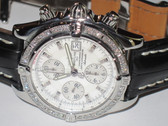 Mens Breitling Chronomat Evolution Mother of Pearl Watch