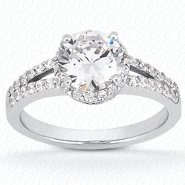 0.40 Diamond tcw on ring setting - Main Stone Not Included