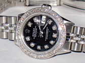 Womens Rolex Datejust Oyster Perpetual Diamonds Everywhere