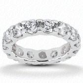 14K Women's Wedding Band Five Princess Cut Diamonds