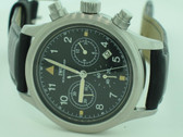 Men's IWC Ingenieur Pilot Stainless Steel Chronograph Watch