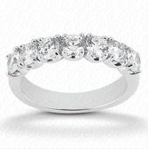 Women's 14K White Gold Diamond Wedding Band-WB940