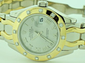 Women's Rolex Women's Masterpiece Pearlmaster 18K Solid Gold Diamond Limited Edition Watch