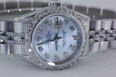 Womens Rolex Datejust Oyster Perpetual Watch