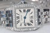 Womens Cartier Santos Demoissele Diamond Watch