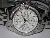 Mens Breitling Chronomat Evolution Mother of Pearl Diamond Watch