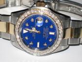 Mens Rolex Submariner 18K Gold Diamond Watch