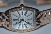 Womens Franck Muller Cintree Curvex 18K Solid Gold Diamond Watch