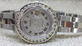 Womens Rolex Datejust Oyster Perpetual Diamond Pavé Dial Watch