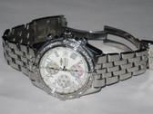 Mens Breitling Chronomat Crosswind Diamond Stainless Steel Watch - MBRT113