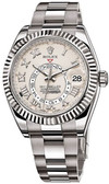 Mens Rolex 18K White Gold Sky-Dweller Watch