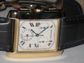 Mens Cartier Tank Francaise 18K Gold Watch