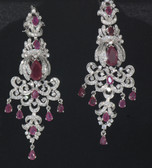 Hand Crafted Silver Collection - Maroon Crystals