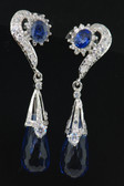 Hand Crafted Silver Collection - Sapphire Crystals