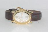 Womens Chopard Happy Sport 18K Gold Diamond Watch - WCHP14