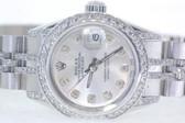Womens Rolex Datejust Oyster Perpetual Diamond Watch - WRLX03