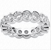 Women's 14K Diamond Eternity Wedding Bands - EWB263