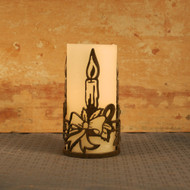 Candle and Bow - Metal Candle Holder Luminay