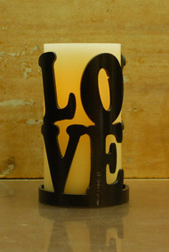 Love Stack (positive) - Metal Candle Holder Luminary