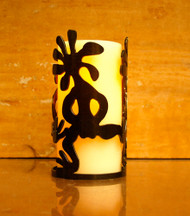 Kokopelli Dancers - Metal Candle Holder Luminary
