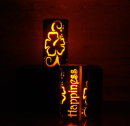 Happiness - Metal Candle Holder Luminary