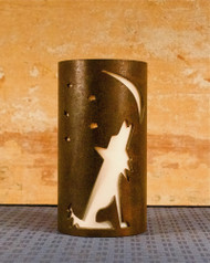 Coyote Night Sky - Metal Candle Holder Luminary