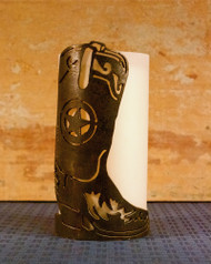Boots with Badge - Metal Candle Holder Luminary