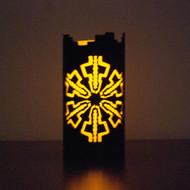 Petroglyph Circle - Metal Candle Holder Luminary