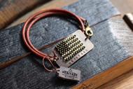 Leather Flag Bracelet