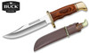 "Buck Knives 0119BRS Special – 6"" Plain Edge Blade - Cocobola Dymondwood Handle - Leather Sheath"