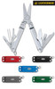 """Leatherman 64010101K Micra - 2.5"""" Closed - 10 Tools - Spring Action Scissors - Satin Finish Stainless Steel Handles"""