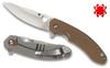 Spyderco C156GPBN Southard Flipper - CTS-204P - Brown G-10/Titanium