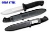"Cold Steel 20PBL Peace Maker II - 5.5"" Plain Edge Blade - Polypropylene Handle - Ambidextrouse Secure-Ex Sheath"