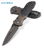 """Benchmade 908-151 AXIS Stryker – 3.57"""" Starfire Damascus Blade – Titanium Bolsters w/ Carbon Fiber Handle - SOLD OUT"""