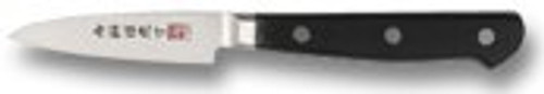 "Al Mar AM-C2 Paring Knife - 3"" Laminated VG-2 Stainless Steel Blade - Black Pakkawood Handles"