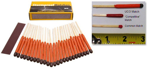 UCO Stormproof Matches - Twin Pack (2 boxes of 25 matches each) - Best Matches We've Found!