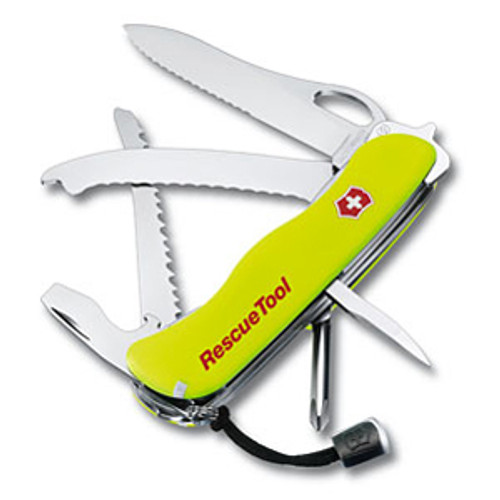 Victorinox #53900 Rescue Tool Stay Glow Yellow 111mm - Includes Nylon Pouch
