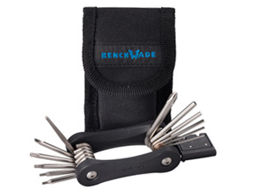 Benchmade Folding Tool Kit - Drivers: 3 Torx, 6 Hex, #2 Phillips Head, Flathead - Sharpening Rod - Carbide Honing Slot